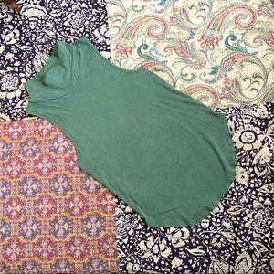 Free People Mint Green Sleeveless Shirt